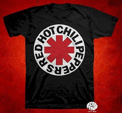 New Red Hot Chili Peppers Logo Vintage Concert Black Mens T-Shirt  (Red Hot Chili Peppers-logo)