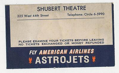 American Airlines   Shubert Theatre Ticket Envelope