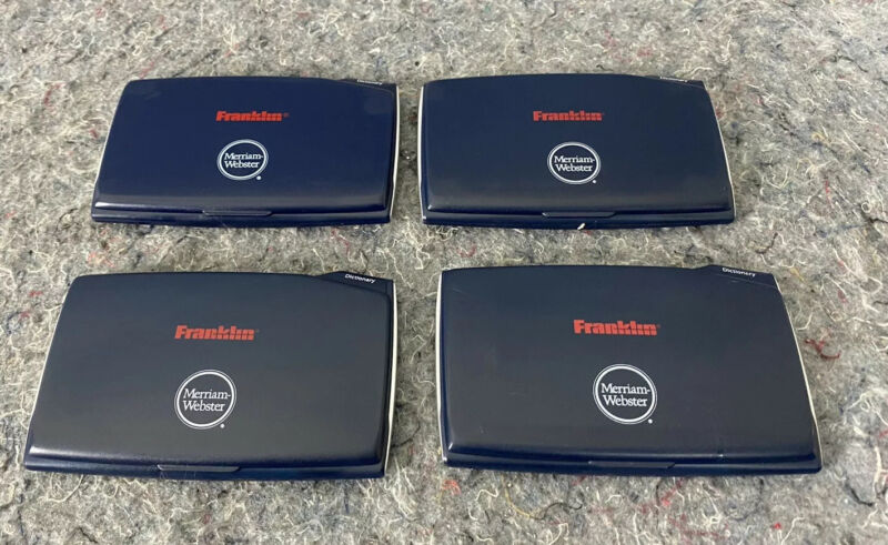 Lot of 4  Excellent!- Franklin Merriam-Webster Electronic Dictionary MWD-465