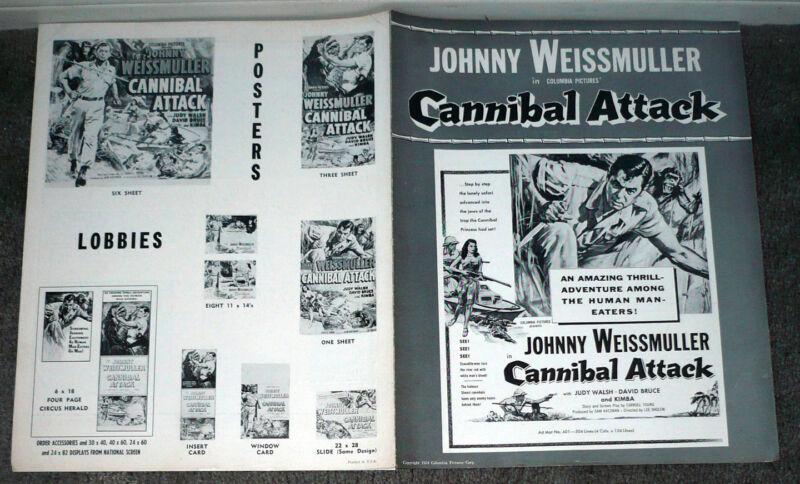 CANNIBAL ATTACK original 1954 movie pressbook JUNGLE JIM/JOHNNY WEISSMULLER