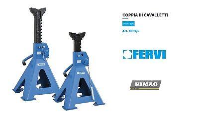 FERVI 0069/6 2x Caballetes Profesional de Elevación Auto Furgoneta Camper 6 Ton