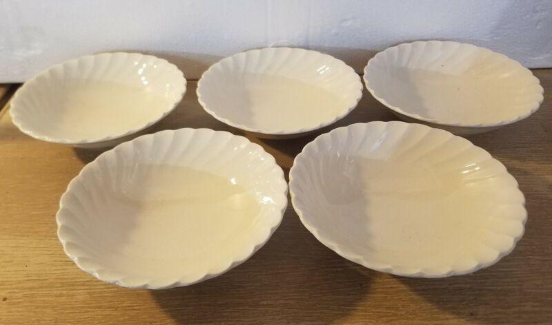 5 Vintage Myott Old Chelsea Staffordshire England Swirl Soup Cereal 6.5 Bowls