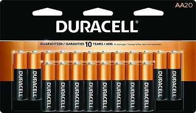 Duracell Coppertop AA Cell Alkaline Batteries 20 pack