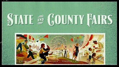 US 2019 SCOTT #5401-5404 STATE AND COUNTY FAIRS MVF FOREVER 5 STAMP HEADER STRIP