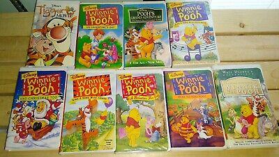 Winnie Pooh Halloween Songs (Lot Of 9 WINNIE THE POOH Disney VHS Christmas Halloween Sing Songs)