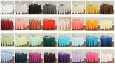 LinenTablecloth 120 in.Round Polyester Tablecloth 33 Colors! Wedding Party Event