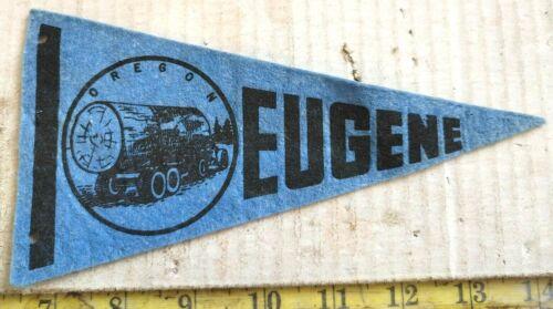 "HARD TO FIND EUGENE OREGON FELT PENNANT 8"" {CS828}"