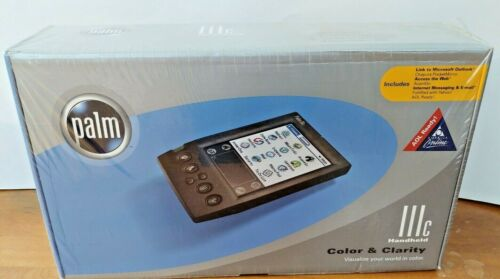 PALM HANDHELD IIIc New in Orginal Packaging Palm INC 2000 Old School Technology