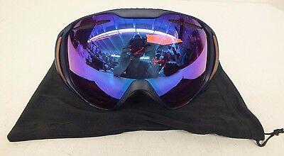 092507e4b52 Native Eyewear Upslope Black Roth Medium-Fit Snow Goggles w Rose Lens NEW