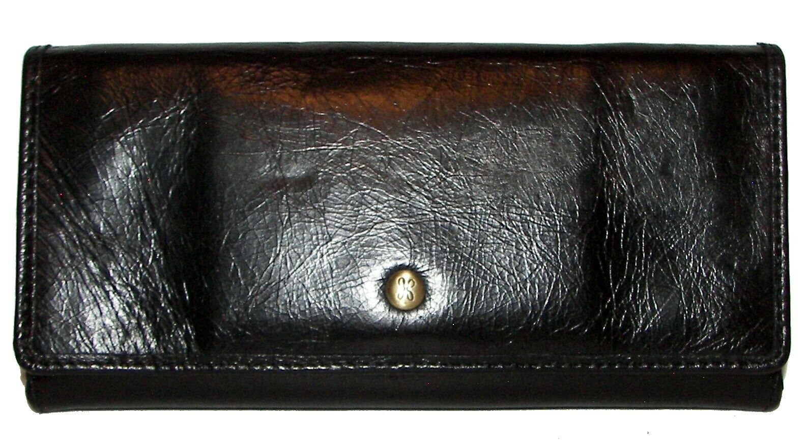 HOBO Beck Black Leather Trifold Wallet NWT