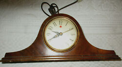 General Electric Tambour Style ELECTRIC Mantle Clock Model 3HO6 1940's Vintage