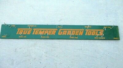 Vintage True Temper Metal Sign Garden Tool Rack Advertisement Store Display 4FT