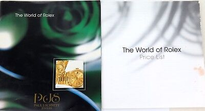 "1998 ""THE WORLD OF ROLEX""  LARGE BOOKLET + USA RETAILERS PRICE LIST. SUB, GMT"