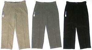 Croft-Barrow-NEW-Tan-Gray-Black-Mens-Classic-Fit-Flat-Front-Corduroy-Pants-60