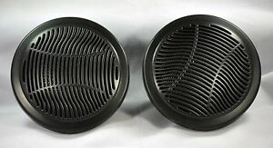 4-PAIR-2-Way-Waterproof-Marine-Outdoor-Bathroom-Speakers-in-Black