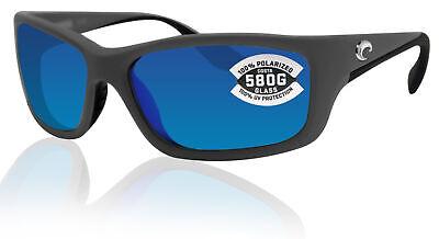 Costa Del Mar Jose Matte Gray Frame Blue Mirror 580G Glass Polarized Lens (Costa Del Mar José)