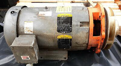 20vv22 Baldor Reliance Industrial Motor 7.5 - 10hp Attached To Berkeley Pump