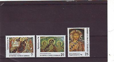 CYPRUS - SG918s-920s MNH 1996 CHRISTMAS - OVPT SPECIMEN