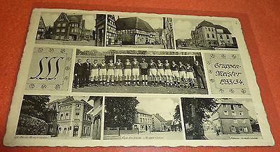 S.S.S. Spiel u. Sport Soest 1913 Gruppen-Meister 1933/34 AK Fußball Kampfbahn
