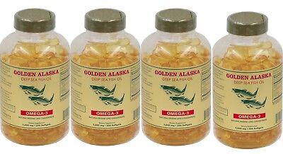 4 x Golden Omega 3, EPA DHA  Deep Sea Fish Oil, 800 softgels in total