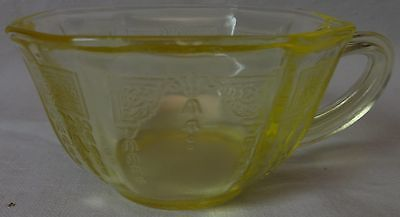 Princess Topaz/Yellow Cup and Saucer Set of 4 Hocking Glass Company