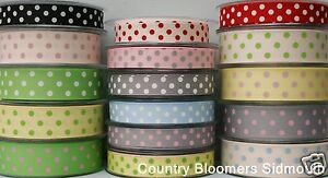 Berisfords-Large-Polka-Dot-Grosgrain-Ribbon-Assorted-Colours