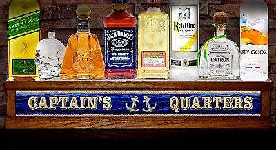 24 Led Liquor Bottle Display Boat Ship Captains Quarters