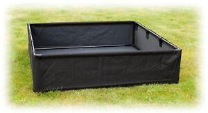 2 x Raised Bed Planter 98cm x 98cm x 25cm Flower Bed Vegetable Box Grow Bag