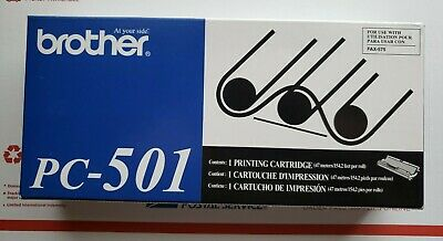 Brother Pc-501 Printing Cartridge For Fax 575 Black Brand New