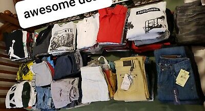 168 piece NWT and used boys Youth clothes 12-14 y. Zara, Abercrombie, etc