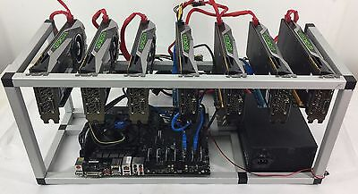Crypto Coin Mining Rig 7X Gtx1070 8Gb Eth Ethereum 212 Mh S Zcash 3000 Sol S Zec