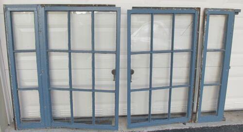 Antique Old school Metal frame casement Windows
