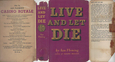 IAN FLEMING - LIVE AND LET DIE - RARE UK 1954 1ST w/DJ  for sale  Shipping to India