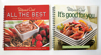 Lot of 2 The Pampered Chef Cookbooks: All the Best & It's Good for You (Best Cookbooks For Chefs)