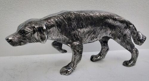 Metal Dog Scottish Deer hound Statue 36 cm Figurine
