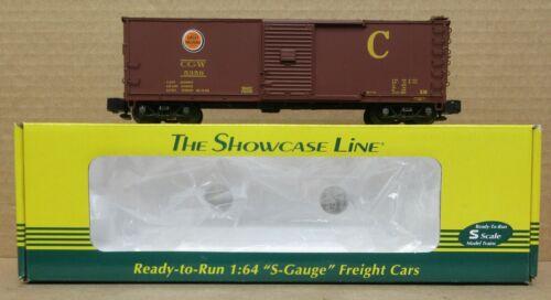 S-Helper 00581 Chicago Great Western (Brown) Boxcar #5356 NIB S-Gauge/Scale