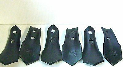 "S Tine Sweep 2 Hole 2-3/4"" Wide 7/16"" Holes 1/4"" Thick Cultivator set of 6"