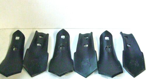 """S Tine Sweep 2 Hole 2-3/4"""" Wide 7/16"""" Holes 1/4"""" Thick Cultivator set of 6"""