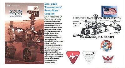2021 Mars 'Perseverance' Rover Mars Landing JPL Pasadena 18 February