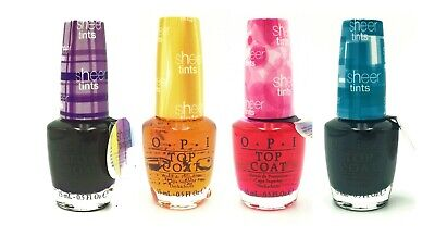 - OPI Nail Polish Full Size Lacquer - Sheer Tints Top Coat - CHOOSE YOUR COLOR!