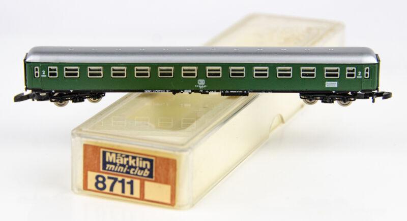 Vintage Marklin Mini-Club 8711 German Z Scale Long Green 2nd Class Passenger Car