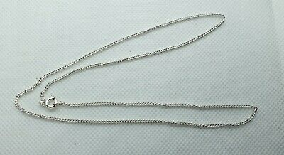 GOOD QUALITY STERLING SILVER ROPE LINK CHAIN 18