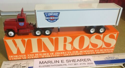 ST. JOHNSBURY TRUCKING TRACTOR & TRAILER WINROSS TRUCK