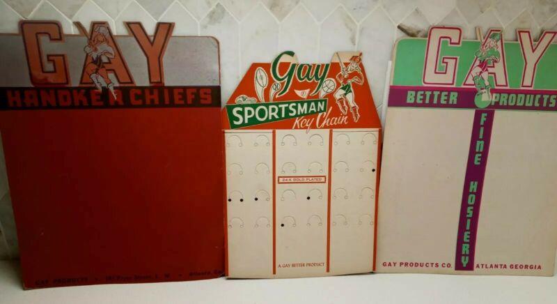 Vintage Gay Products~ Unused~ In store Advertising Display Boards ~1950