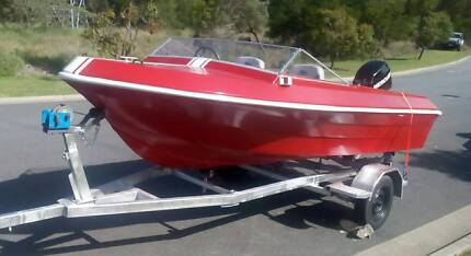 16ft 50hp 04 Fish/Fun Boat EVERYTHING is NEW Bimini,Seats+Trailer