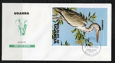Uganda FDC stamps  birds