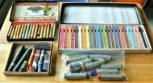 Lot of Vintage Pastels & Drawing Crayons, PRISMACOLOR, NUPASTEL, PENTEL, SARGENT