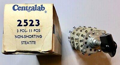 Centralab 2523 Rotary Switch 3 Pol. 11 Pos.