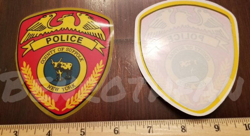 SUFFOLK COUNTY NY POLICE DECAL INSIDE WINDOW  OFFICIAL