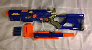 MODIFIED NERF LONGSTRIKE CS-6 ELITE GUN BLASTER CUSTOM N-STRIKE LONGSHOT MODDED